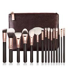 15pcs high quality pink makeup brushes