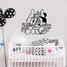 Daisy Duck And Minnie Mouse Babies Wall Decal Cartoon Animals Etsy