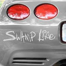 Amazon Com Ncaa Florida Gators White Swamp Life Car Decal Sports Related Tailgater Mats Sports Outdoors
