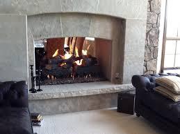 gas burning masonry fireplaces