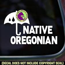 Oregon State Native Oregonian Vinyl Decal Sticker Gorilla Decals