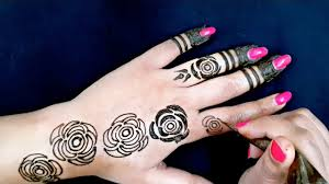 Rose Mehndi Design Simple Flower