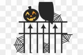 Halloween Clipart Fence Silhouette Free Transparent Png Clipart Images Download
