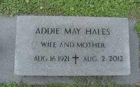 Addie May Hales (1921-2012) - Find A Grave Memorial