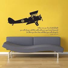 You Will Always Walk The Earth With Your Eyes Turned Skyward Want This In A Room Someday Airplane Wall Childrens Room Wall Decor Fly Quotes