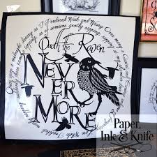The Raven Paper Ink And Knife