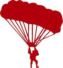 Parachutist Skydiving Vinyl Decal