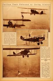 1922 Rotogravure Aviation Stunts Airplanes Jersey Ringel Wesley May Da –  Period Paper