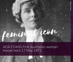 Today is the birthday of Ada Evans. Ada... - Jessie Street National Women's  Library | Facebook