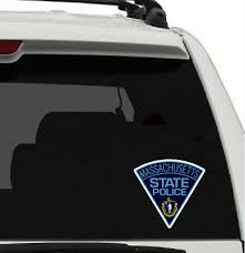 Massachusetts State Police Window Decal Police Department Bumper Sticker Lisence Ebay