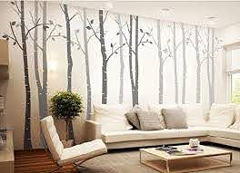 Amazon Com Designyours 4 Big Birch Tree Wall Decal Nursery Removable Vinyl Tree Wall Decals For Living Room Tree Wall Stickers Home Kitchen