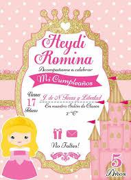 Fiesta 6 Anos Luna Invitaciones Invitaciones De Cumpleanos
