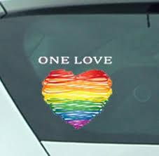One Love Vinyl Decal Window Sticker Great Gift Car Window Etsy