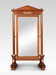 antique empire mahogany cheval mirror