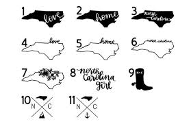 North Carolina Home State Decal Yeti Decal Car Decal Laptop Etsy
