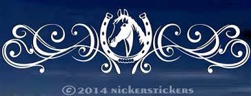 Horse Head Flourish Decals Stickers Nickerstickers