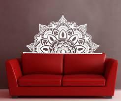 Half Mandala Wall Decal Sticker Flower Vinyl Bohemian Headboard Home Decor Sm230 For Sale Online Ebay