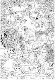 Dierentuin Zoo Animals Kleurplaten Dieren Kleurplaten Kleurboek