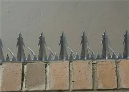 Steel Iso Certified Anti Climb Fence Spikes Security Metal Wall Spikes