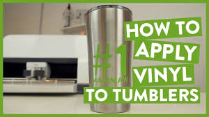 How To Apply Vinyl To Tumblers Youtube