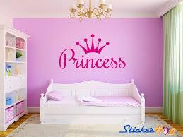 Princess Crown Girls Nursery Room Vinyl Wall Decal Large Bedroom Decor