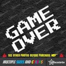 Game Over Sticker Retro Video Rock Star Vinyl Window 8 Bit Nintendo Decal Ebay
