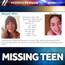 WISN 12 NEWS - FOUND SAFE: Abigail Allen, 16, Who was last ...
