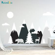 Mega Sale 57eaf Big Size Mountains Wall Decal Baby Kids Nursery Room Adventure Theme Decor Playroom Removable Vinyl Wallpaper Ba482 2 Cicig Co