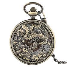 phoenix mechnical pocket watch charm