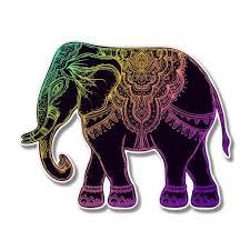 Elephant Colorful Henna Mandala Vinyl Sticker Waterproof Decal Sticker 5 Walmart Com Walmart Com
