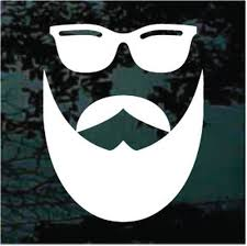 Mustache Car Decals Stickers Decal Junky