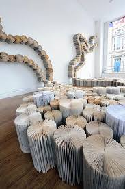 "Yvette Hawkins creates large-scale book art installations. For the  installation ""No Land in Particular"" (s… 