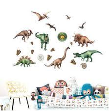 Prehistoric Dinosaur Kids Wall Art Sticker Decals Boys Room Nursery Decor Gift Ebay