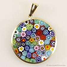 medium millefiori pendant multicolor