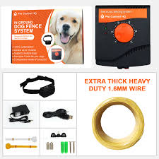 Waterproof Rechargeable Invisible Electric Dog Fence System Containment 2 Collar