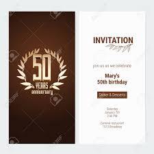 Invitacion De Aniversario De 50 Anos Para Celebrar La Ilustracion