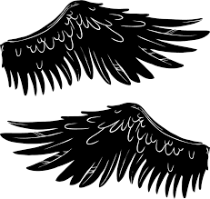 Angel Wings Car Vinyl Sticker Tenstickers