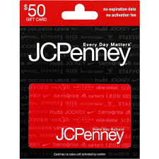jc penney gift card 50 gift cards