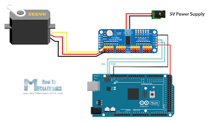 control servos using arduino