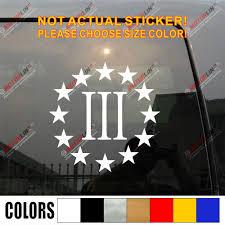 3 Percenter Three Percent Sticker Decal Xeos France Com