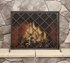iron weave single panel fireplace