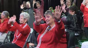 Seniors steal show with 'Rocking Chair Rockettes' performance