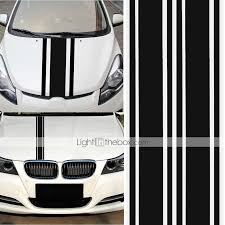 2pcs 72 Inch X3 Inch Diy Black Car Body Vinyl Racing Stripe Pinstripe Decal S Ss Sfhs Org