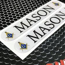 Auto Parts And Vehicles Mason Masonic Freemason Domed Decal Car Emblem 3d Sticker 5 25 X 9 Set Of 2 Car Truck Graphics Decals