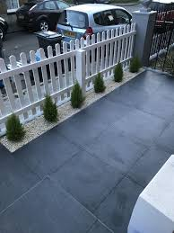 Tiled Front Garden White Picket Fence Terraced House Front Garden Ideas Driveway Small Front Gardens Front Garden