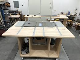 New Mobile Feed Out Table Added To My Router Saw Router Configuration Woodworkingtools Table Saw Router Table Craftsman Table Saw