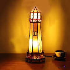 tiffany creative lighthouse table light