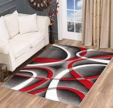 glory rugs modern area rug 5x7 red