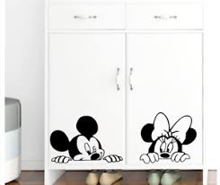 Disney Mickey Mouse Minnie Mouse Wall Stickers For Kids Room Baby Nursery Rooms Ebay