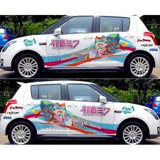 Super Sale Custom Made Japanese Anime Game Itasha Decals Hatsune Miku Racing Rally Sticker 3d Car Decal Waterproof Hood Protective Film November 2020